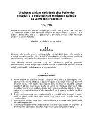 VZN o poplatkoch za znečistenie ovzdušia - Podkonice