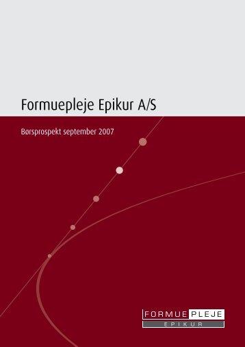 Formuepleje Epikur A/S