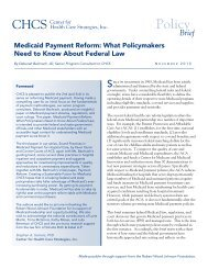 Medicaid Payment Reform - State Coverage Initiatives