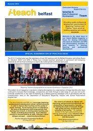 i-teach, Belfast, Summer 2013 Dissemination of Practice Magazine ...