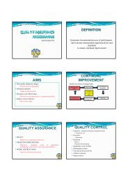 definition aims continual improvement quality assurance - ISRRT