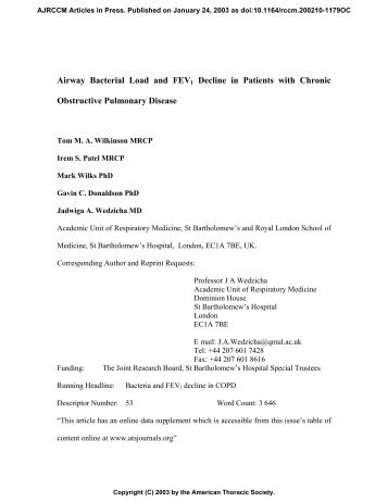 On Line Data Supplement - American Journal of Respiratory and ...