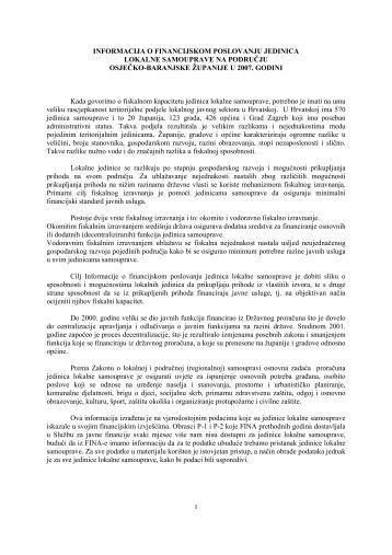 2007. - Osječko baranjska županija