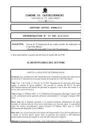 settore lavori pubblici determinazione n° 53 del 8/4/2010