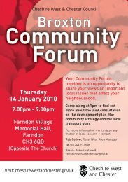 Broxton Community Forum Flyer January 2010 - West Cheshire ...