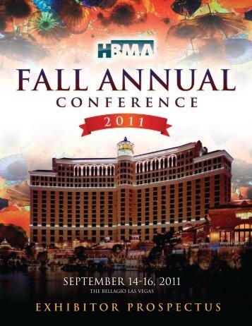 September 14-16, 2011 EXHIBITOR PROSPECTUS - HBMA