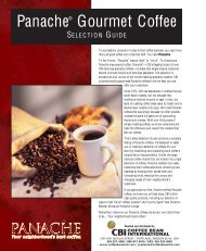 Panache® Gourmet Coffee - Coffee Bean International