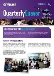 Quarterly Newsletter Term 1 - 2013 - Yamaha Music School