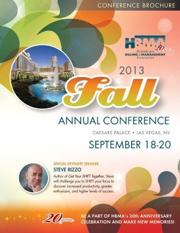 Fall National Conference brochure - HBMA