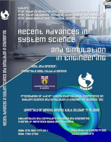 RECENT ADVANCES in SYSTEM SCIENCE and ... - WSEAS