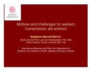 Motives and challenges for western humanitarian aid ... - People In Aid