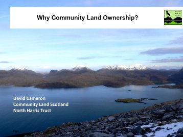 Plenary two - Community Land Trusts