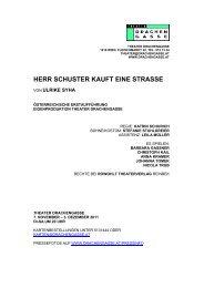 HERR SCHUSTER KAUFT EINE STRASSE - Theater Drachengasse