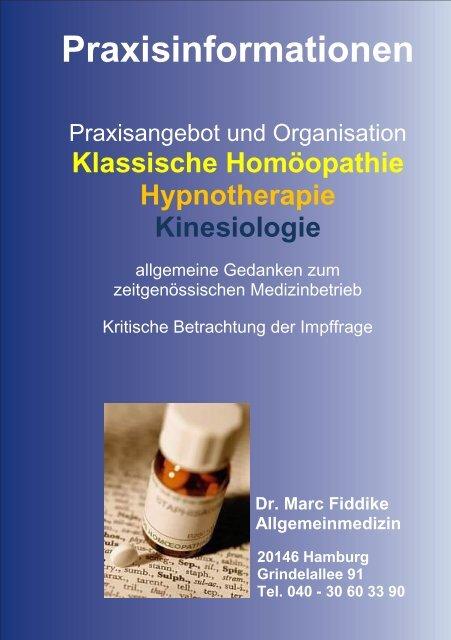 Praxisbroschüre - Praxis Dr.  Fiddike Hamburg