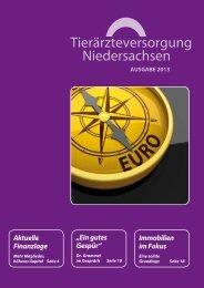 Download Ausgabe 01/2013 - Tierärzteversorgung Niedersachsen