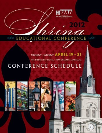 Click here to view the Schedule At A Glance - HBMA