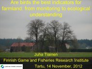 Are birds the best indicators for farmland?