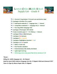 Grade 8 Supply List 2013-2014 - Lawton Chiles Middle School