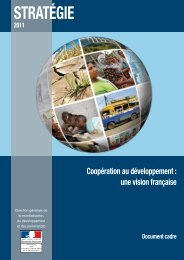 Coopération au développement - France-Diplomatie-Ministère des ...