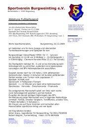 Turnierbestimmungen Burgweintinger ... - BSC Woffenbach