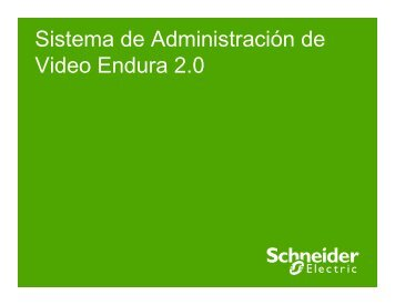Endura 20 SEC - Schneider Electric