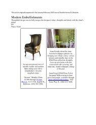 Modern Embellishments - Interior Design Seattle