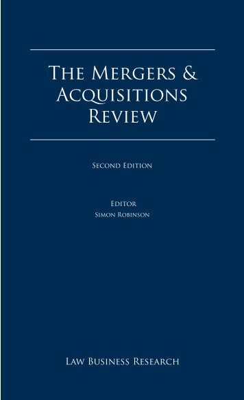The Mergers & Acquisitions Review - Winkler Partners