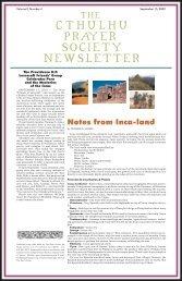 Cthulhu Prayer Society Newsletter - The Poet's Press