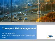 Insert the title of your presentation here Transport Risk Management