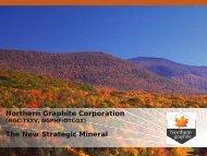 Industrial Minerals Canada - Northern Graphite