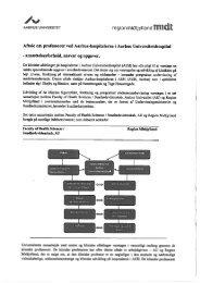 Bilag til aftalen - Aarhus Universitet