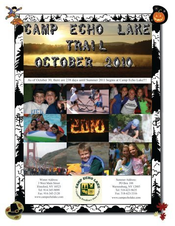 October 2010 - Camp Echo Lake