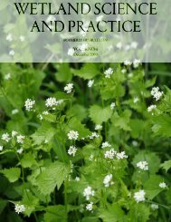 WETLAND SCIENCE AND PRACTICE - Cram
