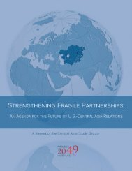 An Agenda for the Future of U.S.-Central Asia Relations