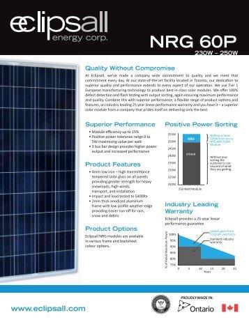 NRG 60 P Series - Eclipsall