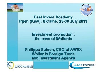O.8 Investment Promotion - Eurochambres Academy