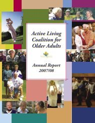 2007 / 2008 - Active Living Coalition for Older Adults