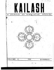 Kailash - Journal of Himalayan Studies