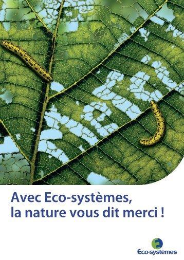 Rapport Développement Durable 2010 - Eco-systèmes
