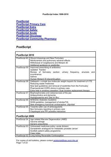 PostScript - GGC Prescribing