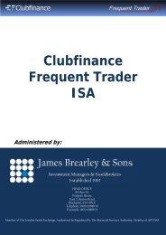 ISA Application Form - Clubfinance