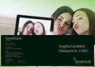 Pakkepris kr. 2.083,- Ungdomspakken - Sønderjysk Forsikring