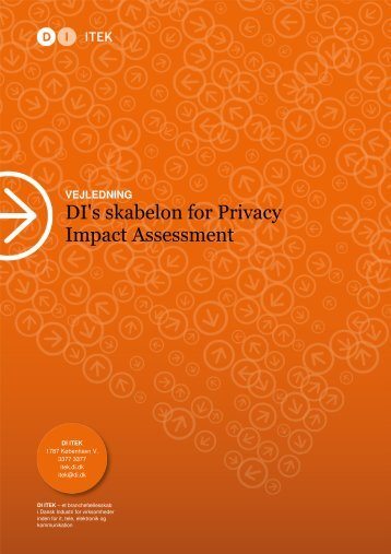 DI's skabelon for Privacy Impact Assessment