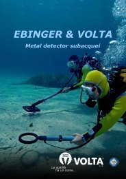 Panoramica metal detector subacquei - Volta SpA