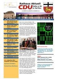 CDU Newsletter vom 15.12.2009 - CDU-Kreisverband Bonn