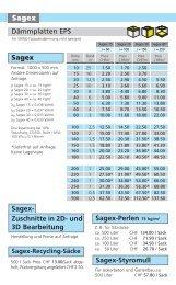 und 3D Bearbeitung Sagex-Styromull Sagex-Perlen 15 kg/m3 Sagex