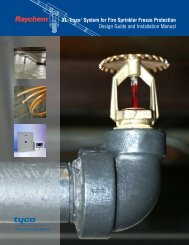 XL-Trace® System for Fire Sprinkler Freeze ... - Emerson Swan