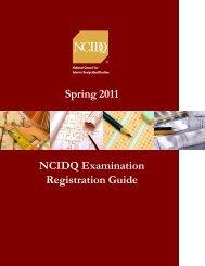 Spring 2011 NCIDQ Examination Registration Guide