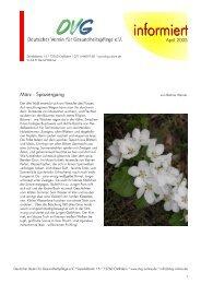 Newsletter - April 2005 - DVG-Deutscher Verein für ...