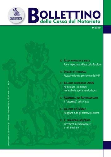 Bollettino n. 2 - Cassa Nazionale del Notariato